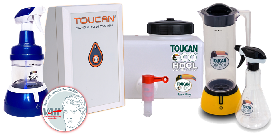 Toucan Eco HOCL antiséptico y desinfectante veterinario